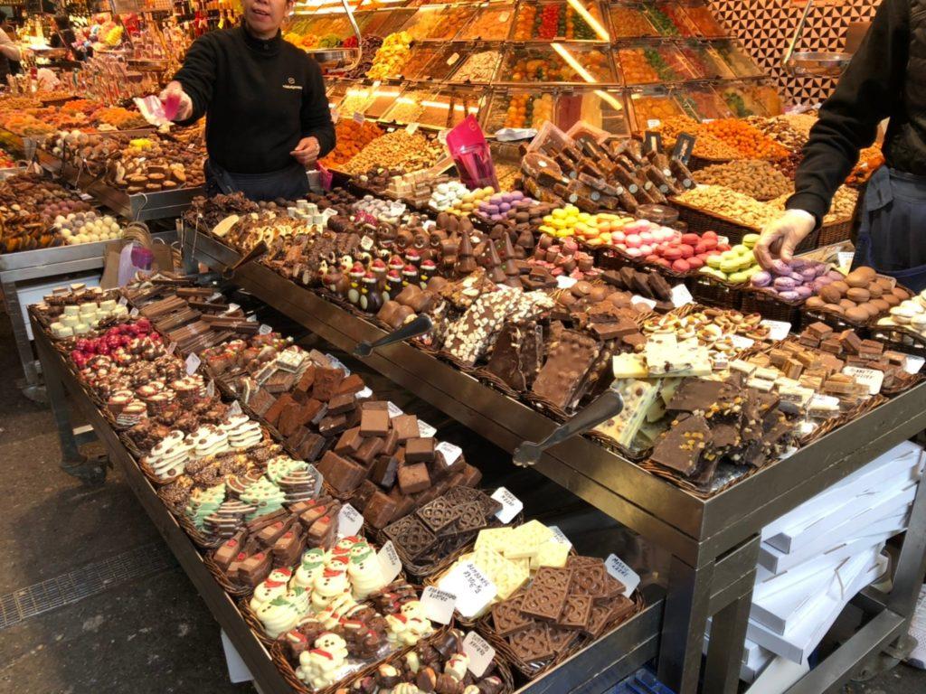 ブケリア市場チョコレート