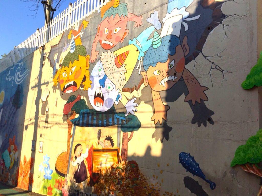 松月洞童話村壁画アート